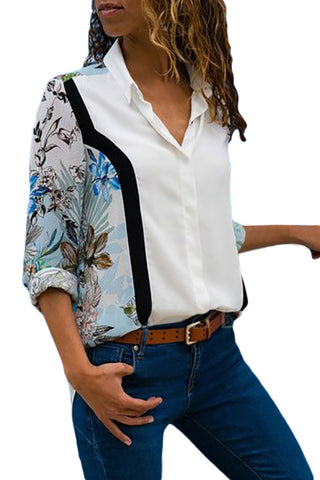 Long Sleeve Floral Print Button down Shirt - Its Trendy Frenzy