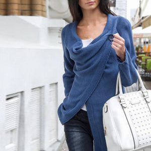 Autumn Women Sweater  Solid Long Sleeve Casual Cardigans - Its Trendy Frenzy