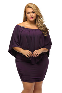 Plus Size Purple Mini Poncho Dress/Shirt - Its Trendy Frenzy