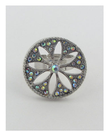 Adjustable cut out flower ring - Its Trendy Frenzy