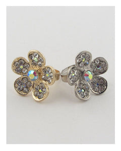 Flower rhinestone adjustable ring - Its Trendy Frenzy