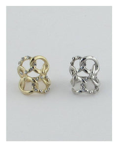 Bold knot ring w/rhinestones - Its Trendy Frenzy