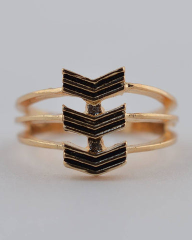 Chevron Stack Ring - Its Trendy Frenzy