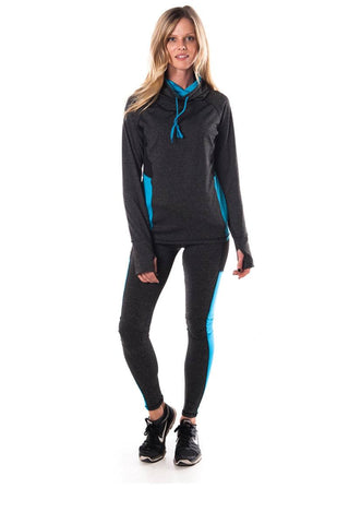 Ladies fashion plus size active sport yoga / zumba 2 pcs set with pull over jacket & leggings outfit - Its Trendy Frenzy