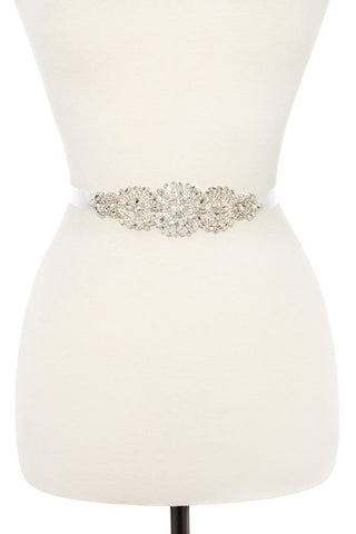 Faceted floral marquise sash belt - Its Trendy Frenzy