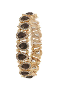 Pave tear drop shape stretch bracelet - Its Trendy Frenzy