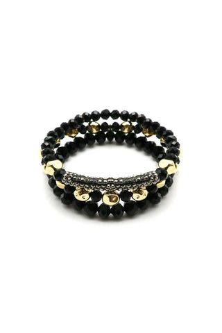Pave stone beaed bracelet set - Its Trendy Frenzy