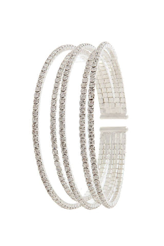 Rhinestone cuff bracelet - Its Trendy Frenzy