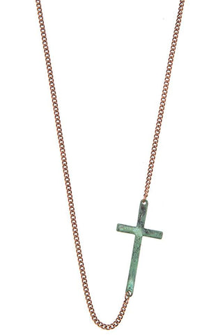 Side cross pendant short necklace - Its Trendy Frenzy