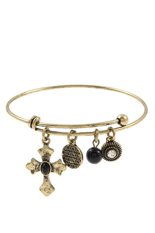 Multi cross charm bangle bracelet - Its Trendy Frenzy