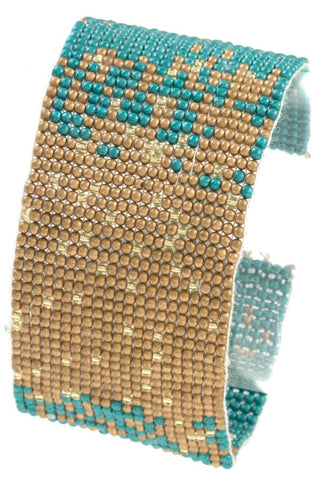 Seed bead two tone bracelet - Its Trendy Frenzy