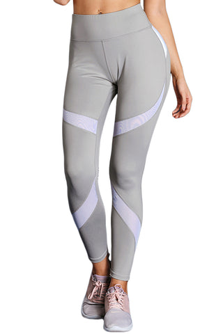High Waist Sport Yoga Pants with Colorblock - Its Trendy Frenzy
