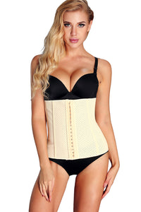 9 Steel Bones Apricot Waist Cincher Body Shaper - Its Trendy Frenzy