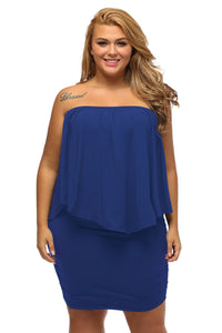 Plus Size Blue Poncho Dress - Its Trendy Frenzy