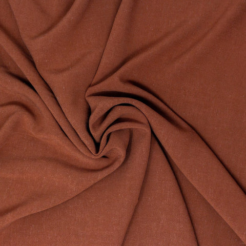 Avery Lightweight Viscose Linen Cinnamon ½ yd-Fabric-Spool of Thread