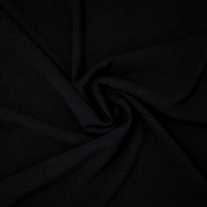 Avery Lightweight Viscose Linen Midnight Black ½ yd-Fabric-Spool of Thread