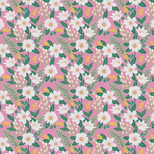 Birds and Blooms Cosmo Pink ½ yd-Fabric-Spool of Thread