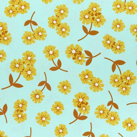 Butterscotch Daisies Mint ½ yd-Fabric-Spool of Thread