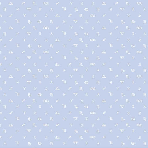 Celestial Symbols Blue ½ yd-Fabric-Spool of Thread