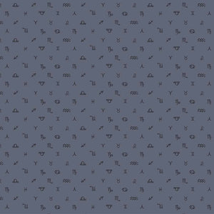 Celestial Symbols Grey ½ yd-Fabric-Spool of Thread
