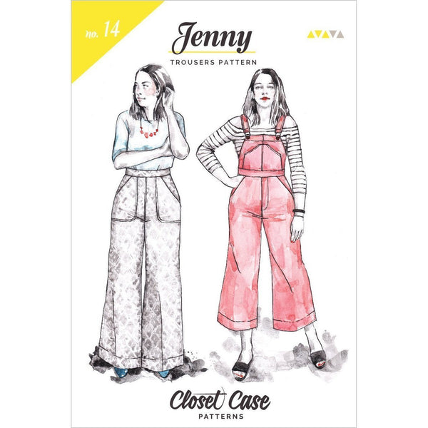 Closet Case Jenny Overalls and Trousers Paper Pattern-Pattern-Spool of Thread