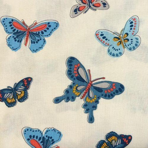 Daisy Paisley Butterfly Teal ½ yd-Fabric-Spool of Thread