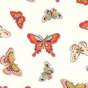 Daisy Paisley Butterly Coral ½ yd-Fabric-Spool of Thread