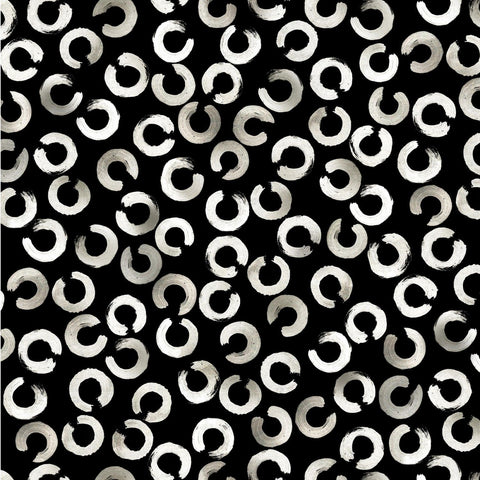 Ink Unleashed White Night Black ½ yd-Fabric-Spool of Thread