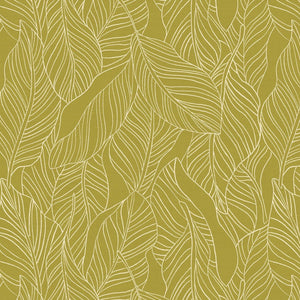 Lisbon Love Leaves Olive Green ½ yd-Fabric-Spool of Thread