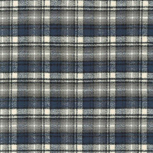 Mammoth Flannel Plaid Ash ½ yd-Fabric-Spool of Thread