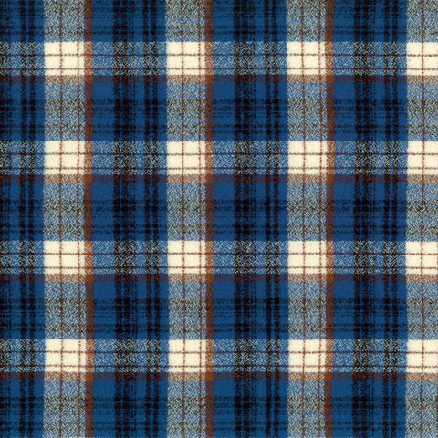 Mammoth Flannel Plaid Blue ½ yd-Fabric-Spool of Thread