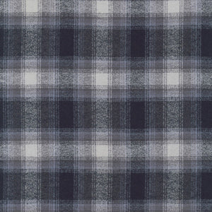 Mammoth Flannel Plaid Grey ½ yd-Fabric-Spool of Thread