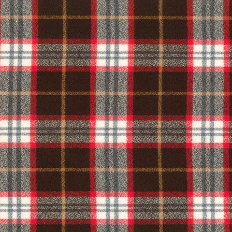 Mammoth Flannel Plaid Redwood ½ yd-Fabric-Spool of Thread