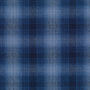 Mammoth Flannel Plaid Royal ½ yd-Fabric-Spool of Thread