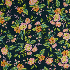 Menagerie Jardin De Paris Navy Rayon ½ yd-Fabric-Spool of Thread