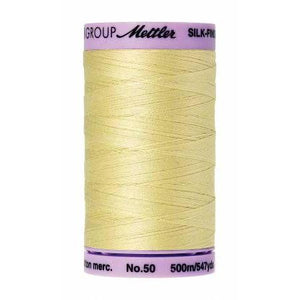 Mettler Silk Finish Cotton Thread 500m Lemon Frost-Notion-Spool of Thread