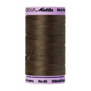 Mettler Silk Finish Cotton Thread 500m Olive-Notion-Spool of Thread