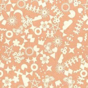 Papercuts Cut It Out Peachy ½ yd-Fabric-Spool of Thread