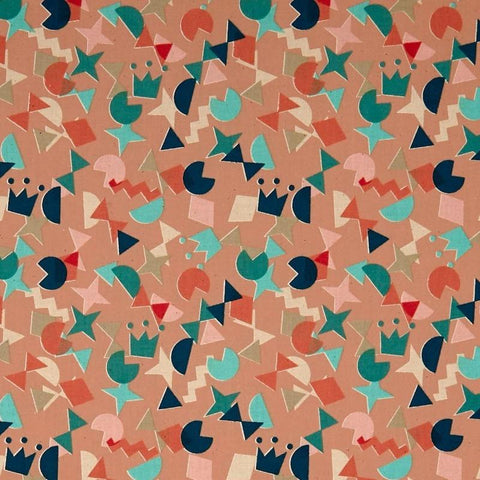 Papercuts Shape Up Peachy ½ yd-Fabric-Spool of Thread