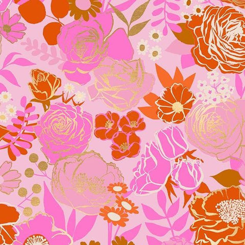 Rise Grow Peony Metallic ½ yd-Fabric-Spool of Thread