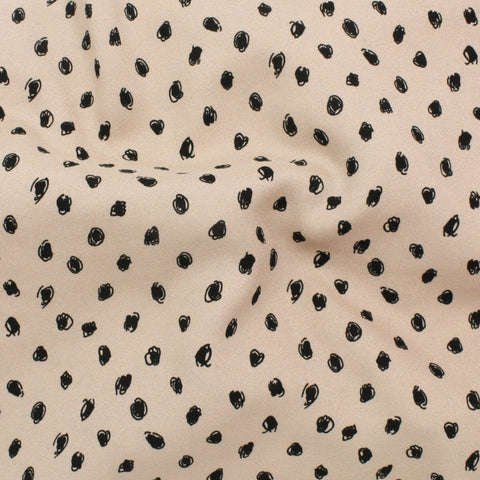 Scribble Dots Rayon Biscuit ½ yd-Fabric-Spool of Thread