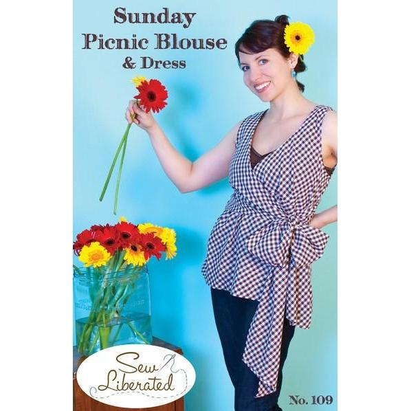 Sew Liberated Sunday Picnic Blouse Paper Pattern