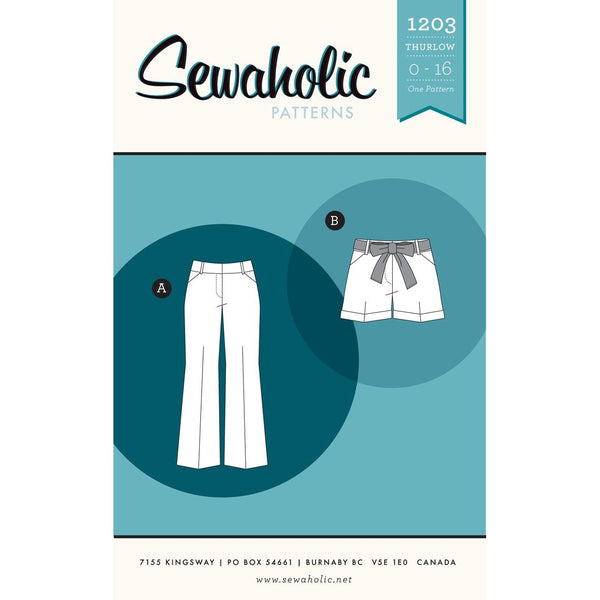 Sewaholic Thurlow Trousers and Shorts Paper Pattern-Pattern-Spool of Thread