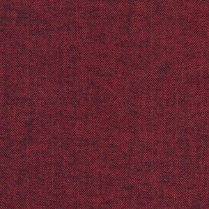 Shetland Flannel Herringbone Redwood ½ yd-Fabric-Spool of Thread