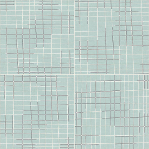 Sketchbook Broken Grid Aqua ½ yd-Fabric-Spool of Thread