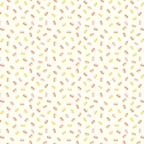 Squeeze Hot Dogs White Multi ½ yd-Fabric-Spool of Thread