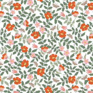 Strawberry Fields Primrose Ivory ½ yd-Fabric-Spool of Thread