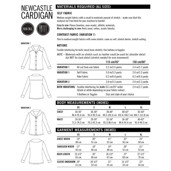 Thread Theory Newcastle Cardigan Paper Pattern-Pattern-Spool of Thread
