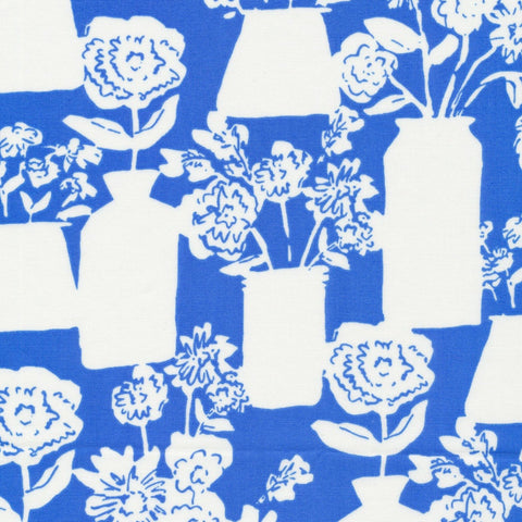 To Market, To Market Bottle and Jar Bouquets Blue ½ yd-Fabric-Spool of Thread