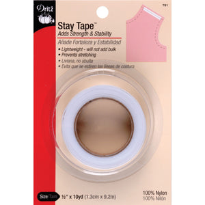 White Stay Tape 1/2 inch wide-Notion-Spool of Thread